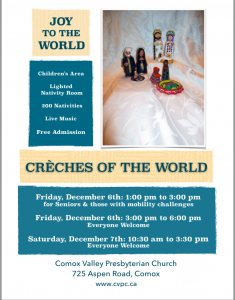 Joy to the World - Creches of the World @ Comox Presbyterian Church